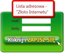 Lista mailingowa to złoto internetu