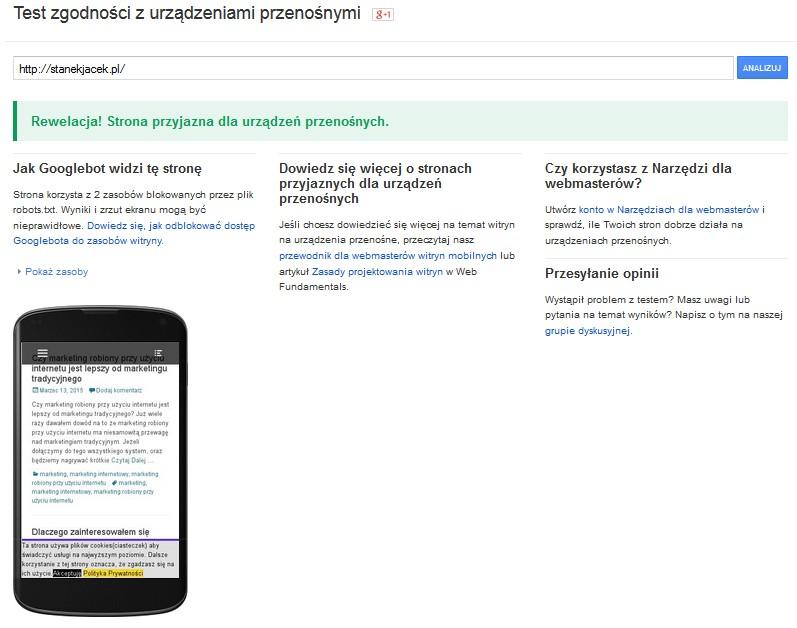 Czy Twoja strona www jest przyjazna dla urządzeń mobilnych i czy szablon jest responsywny ?